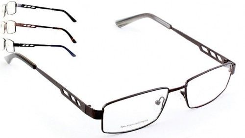 Full metal frame front, flexi titanium temples, two tone colouring temples and tips