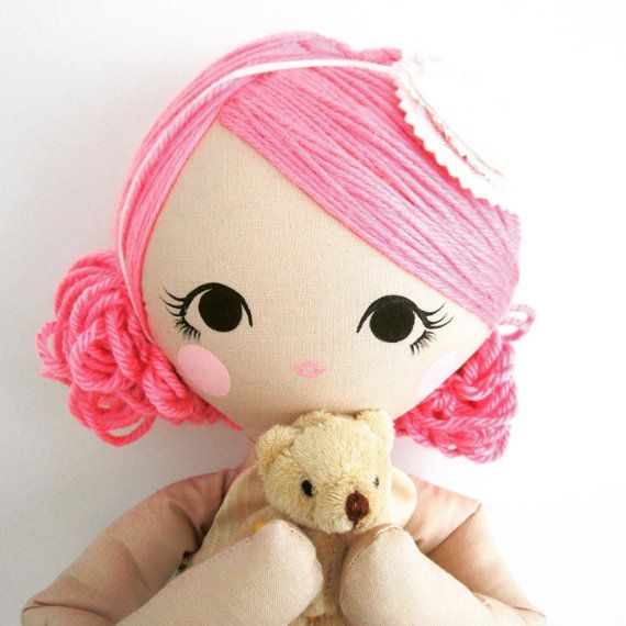 Mend Custom Order Rag Doll by MendbyRubyGrace on Etsy