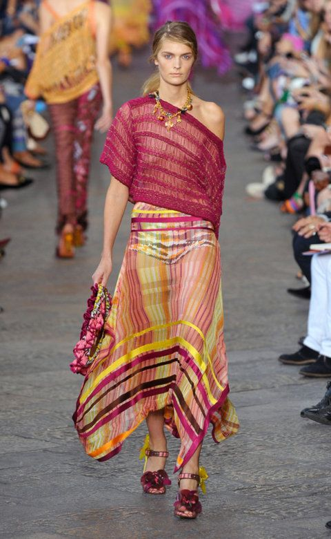Desfile de Missoni. Milán. Resumen de las mejores pasarelas de la temporada primavera-verano con fotos. vídeos, Front Row, StreetStyle 2012. Primavera-verano.