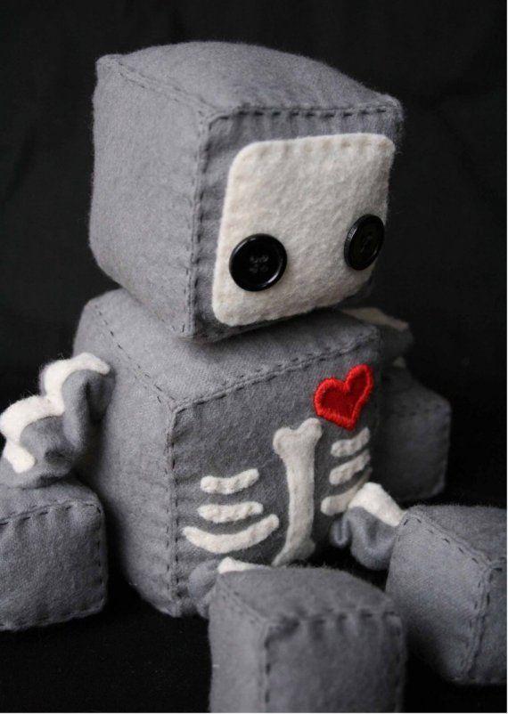 Skeletal Robo by Littlebrownbyrd on Etsy