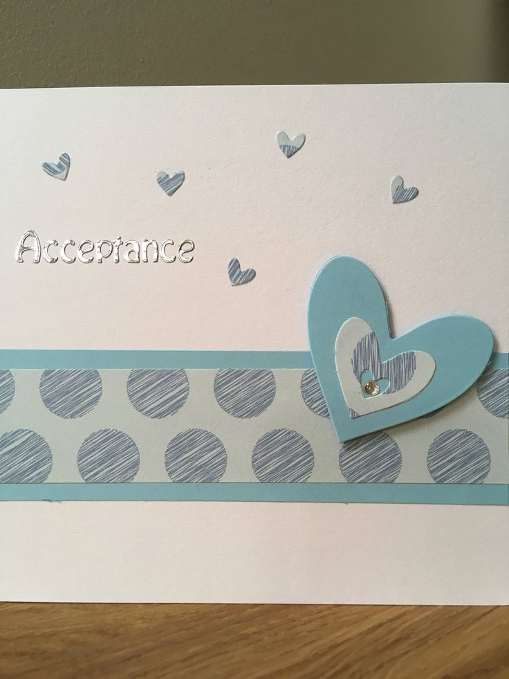 A personal favourite from my Etsy shop https://www.etsy.com/uk/listing/528381145/handmade-wedding-acceptance-card-heart