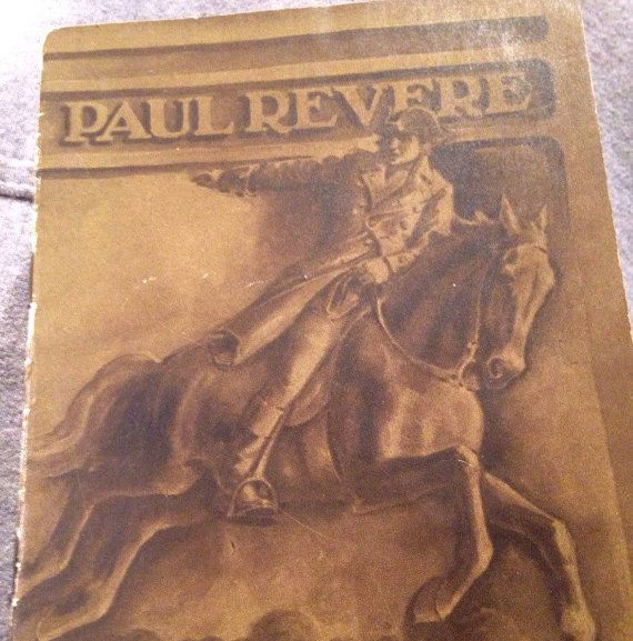 Vintage Paul Revere Biography Give Away Book by LooseChipsWoodWork