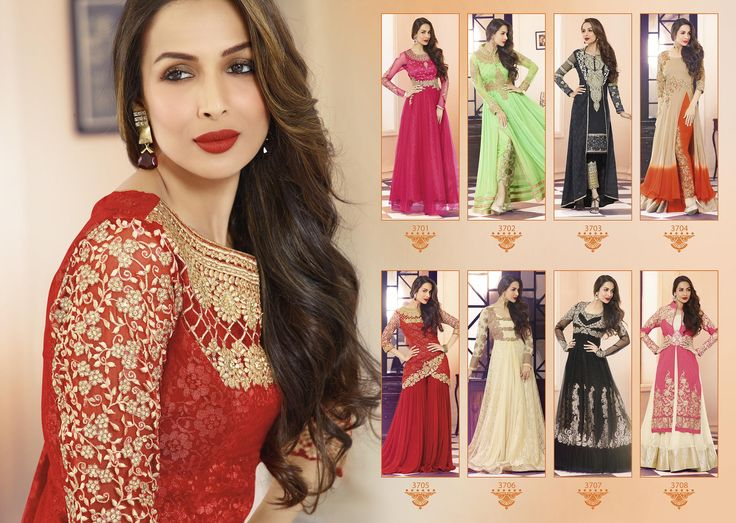 Designer Malaika Arora Khan Georgette Suit available in 8 Different colours.