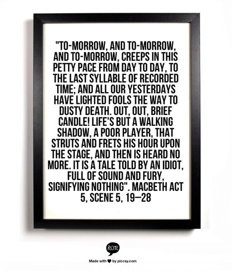 "Tomorrow and Tomorrow... | Macbeth "" Ambition"" | Scoop.it"