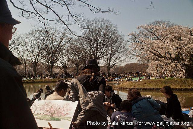 Parc Yoyogi à Tokyo - dessinateur