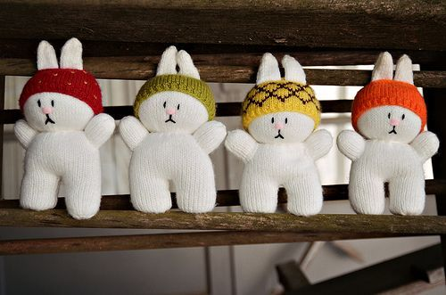 Bummed Bunnies... thinking they need some skis and poles!