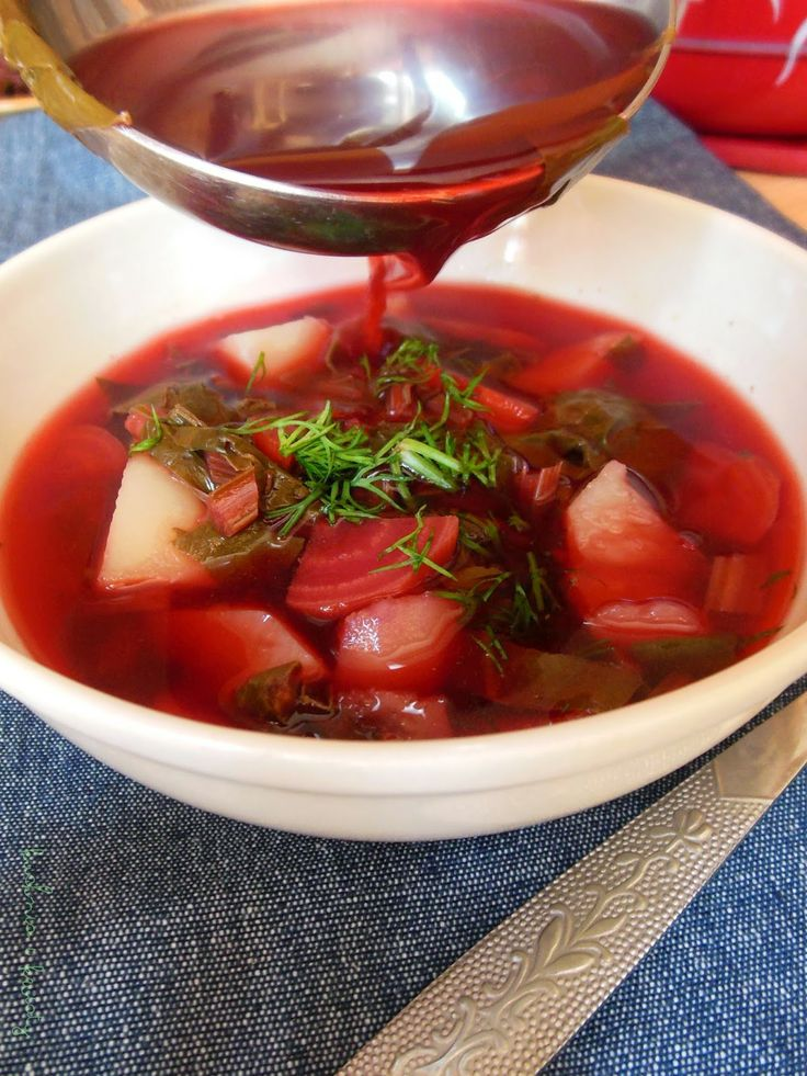 Warzywa, owoce i kwiaty.: Zupa botwinka.