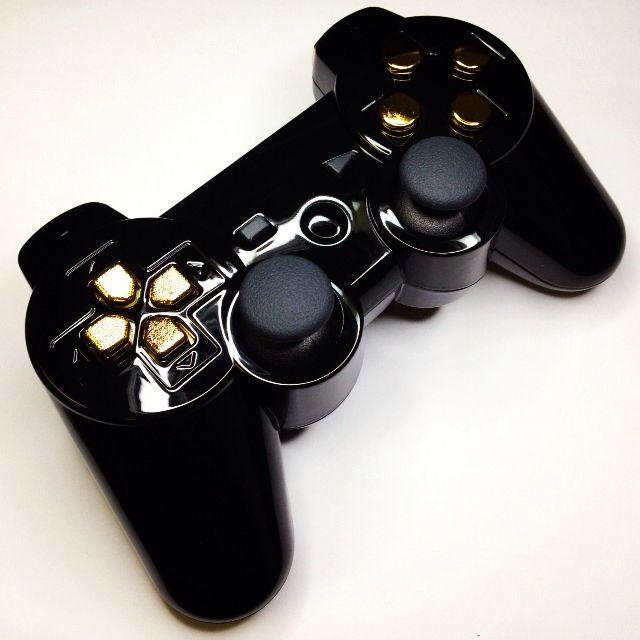 A custom modded GoldenEye PS3 controller from www.intensafirestore.com. From $79.95. #ps3 #ps3controller #playstation #modded #moddedcontroller #mw3 #black #blackops #blackops2 #gta #gtav #game #gamer #games #gaming #gamerchick #girlgamers #custom #customcontroller #pictureoftheday #ps4 #controllermods #controller #controllerporn #ps3porn #customcontrollers #moddedcontrollers #007 #jamesbond