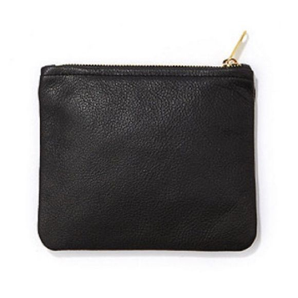 "American Apparel Black Leather Zippered Pouch American Apparel Small Black Leather Carry-All Zippered Pouch. 100% Leather Construction. Zippered Closure. Bag Measures Approx: 5""W X 7""H X 1""D. Simple + Minimal Design. Similar Style to Brands Like: Michael Kors, Marc Jacobs, Kate Spade, Prada, Mansur Gavriel, Acne, Zara, TopShop, Alexander Wang, Isabel Marant, Brandy Melville & Free People. American Apparel Bags"