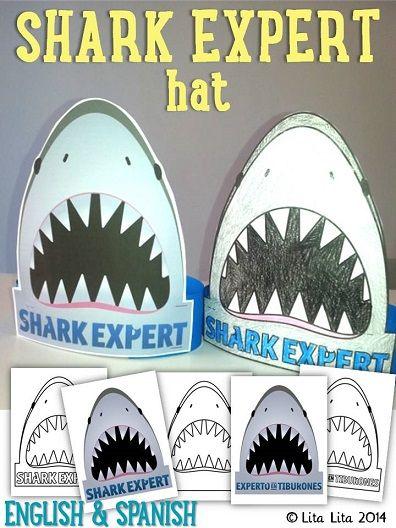 Shark Expert printable hat