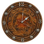 Tooled Flower Wall Clock - CLEARANCE
