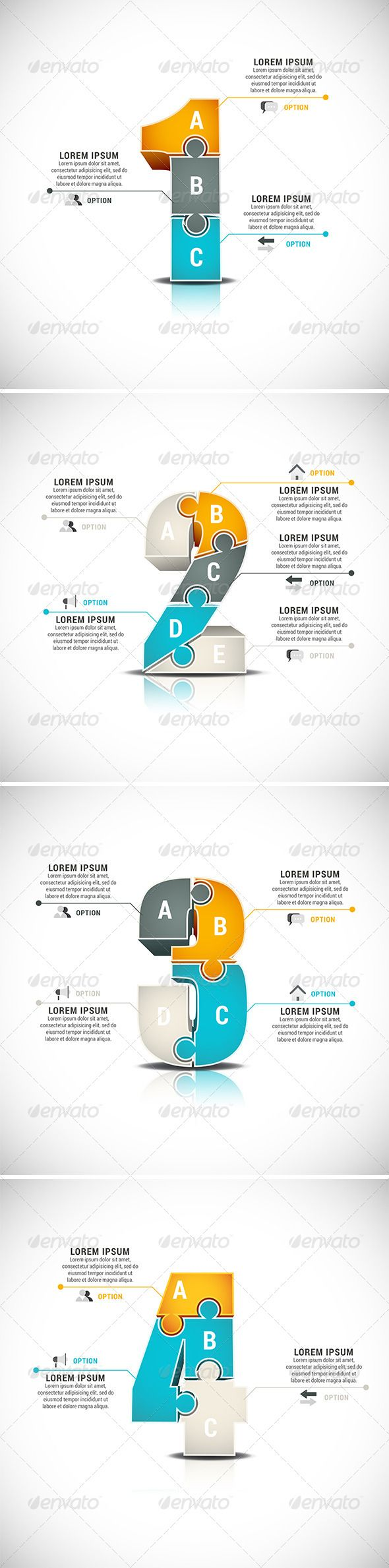 4 Business Infographics Tempalte #design Download: http://graphicriver.net/item/4-business-infographics/8219081?ref=ksioks