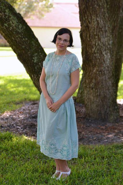 The Mint Sundae Dress   The Girl with the Star-Spangled Heart: The Mint Sundae Dress 1920s 1 Hour Dress