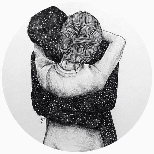 Immagine di love, hug, and couple