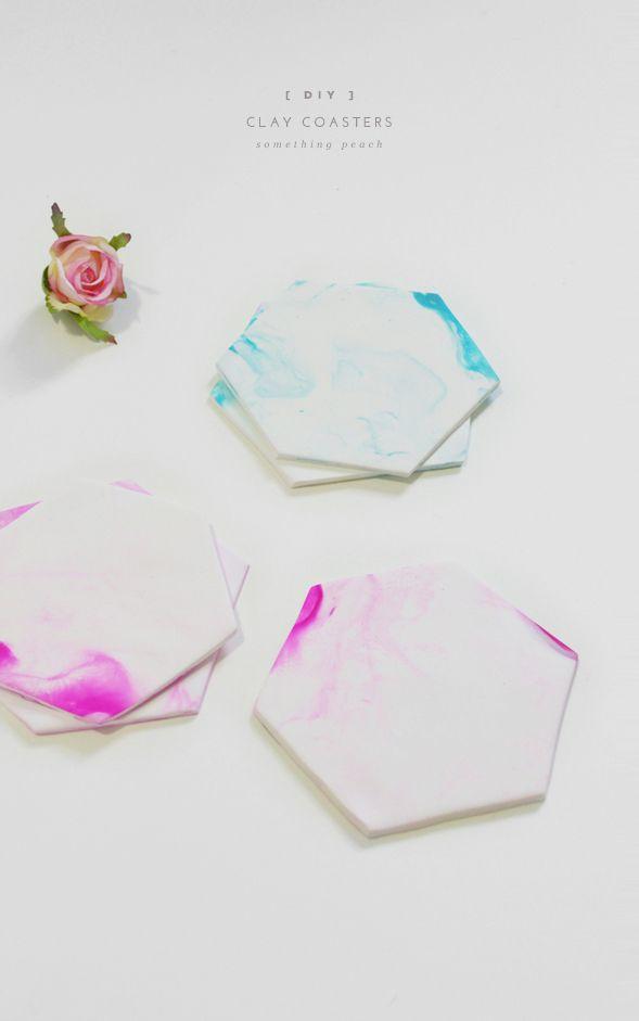 Make Polymer Clay Coasters