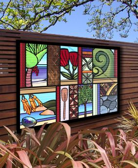Sarah C | Word Art | Outdoor Art | Kiwiana Art | Garden Art | Corrugated Iron Art | New Zealand Art