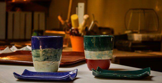 Juego de jabonera y vaso en ceramica | Taller El Guatan