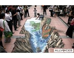it looks so real! Chalk guy
