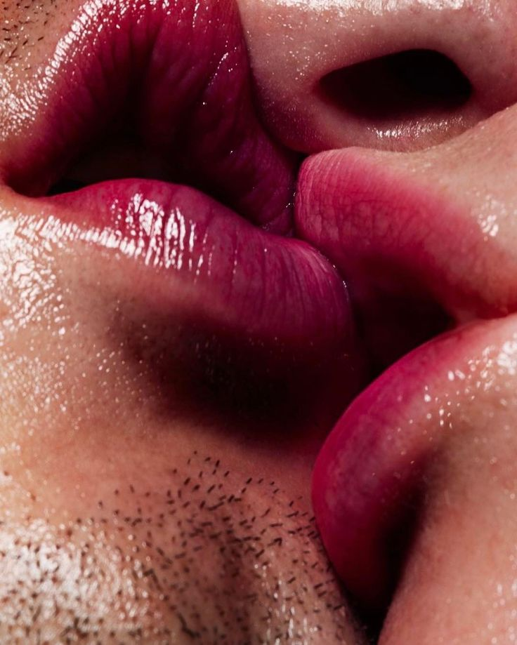 Открытки с поцелуями губами, днем