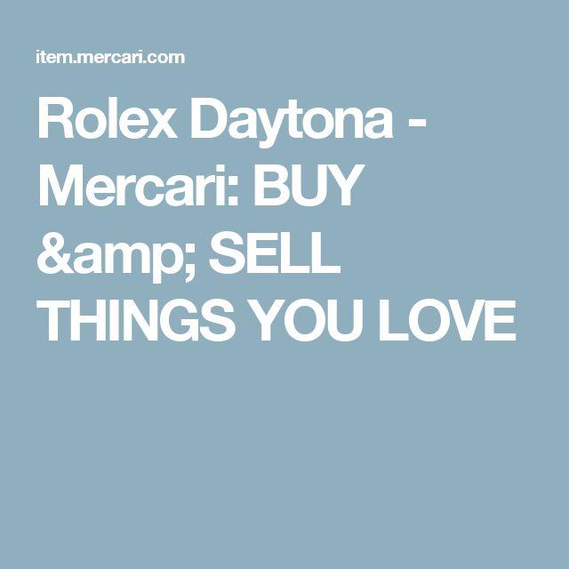 Rolex Daytona - Mercari: BUY & SELL THINGS YOU LOVE