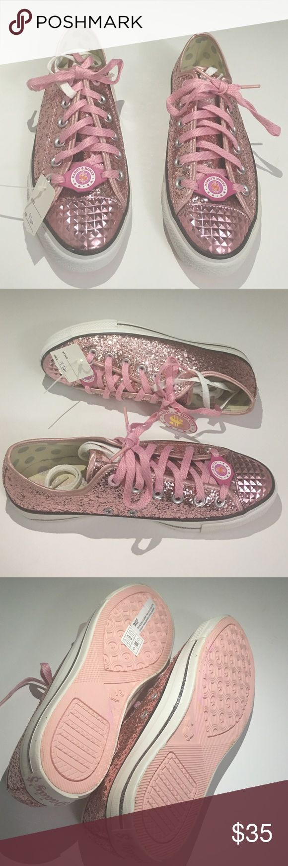 New Daddy's Money Skechers Sneakers Pretty in Pink is what you will be with these beauties. New with tags but no box these will look outstanding with jeans or leggings. Extra white shoestrings come with the shoes as well. The same shoes sale for $37 on eBay used these are new never  worn. Skechers Shoes Sneakers