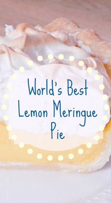 World's Best Lemon Meringue Pie A sweet layer of bursting lemon flavor topped with fluffy toasted meringue in a perfect crust will quickly become a sweet favorite!  The World's Best Lemon Meringue Pie is a must for any lemon lover.  Sugar Bananas!  www.sugarbananas.com  http://sugarbananas.com/worldsbestlemonmeringuepie/