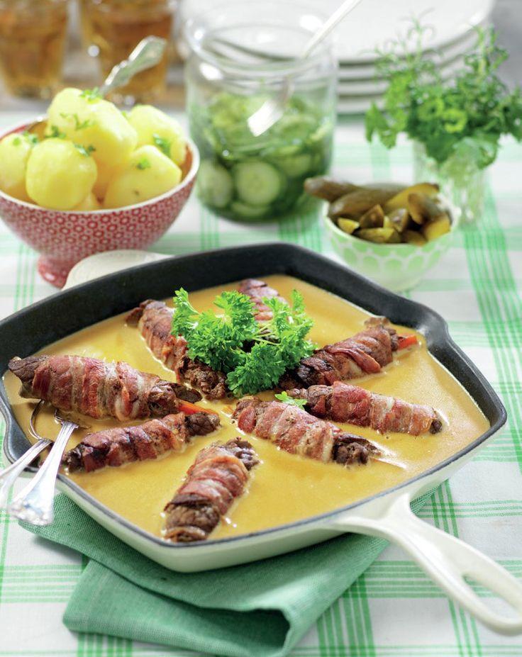 Bjudrullader med kokt potatis och grönsaker - Recept - Stowr