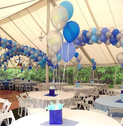 1000 images about balloons reunion on pinterest for How to make balloon arrangements for parties