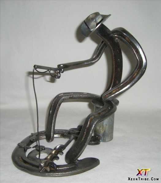 horseshoe cowboy welding projects. san tan metal art has unique artwork hand-made from old horseshoes and recycled horseshoe cowboy welding projects c