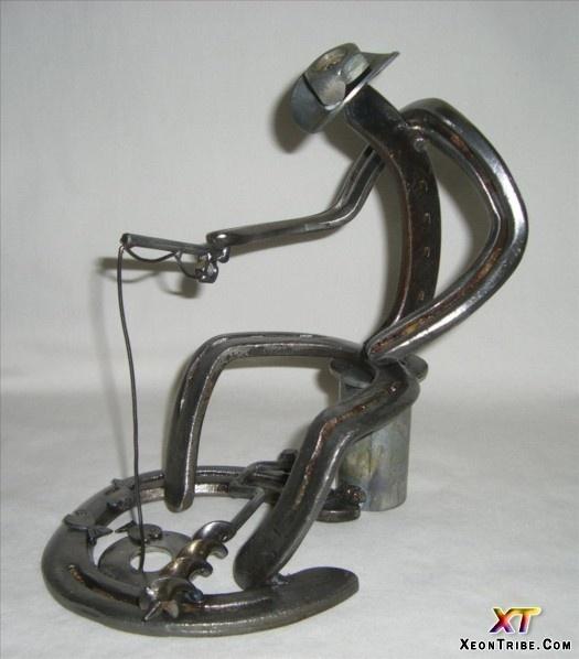 Amazing horseshoe design cowboy fishing horses shoe for Horseshoe welding designs