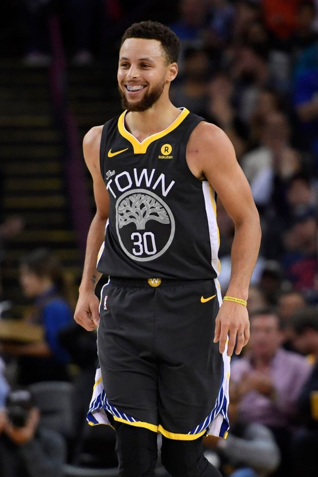 0e42486be2e1 Golden State Warriors  Stephen Curry (30) reacts after sinking a three-point