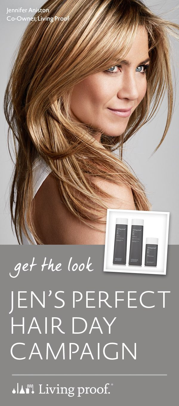 Jennifer Aniston's Perfect Hair Day Campaign look was creating using Living Proof's Perfect hair Day collection.