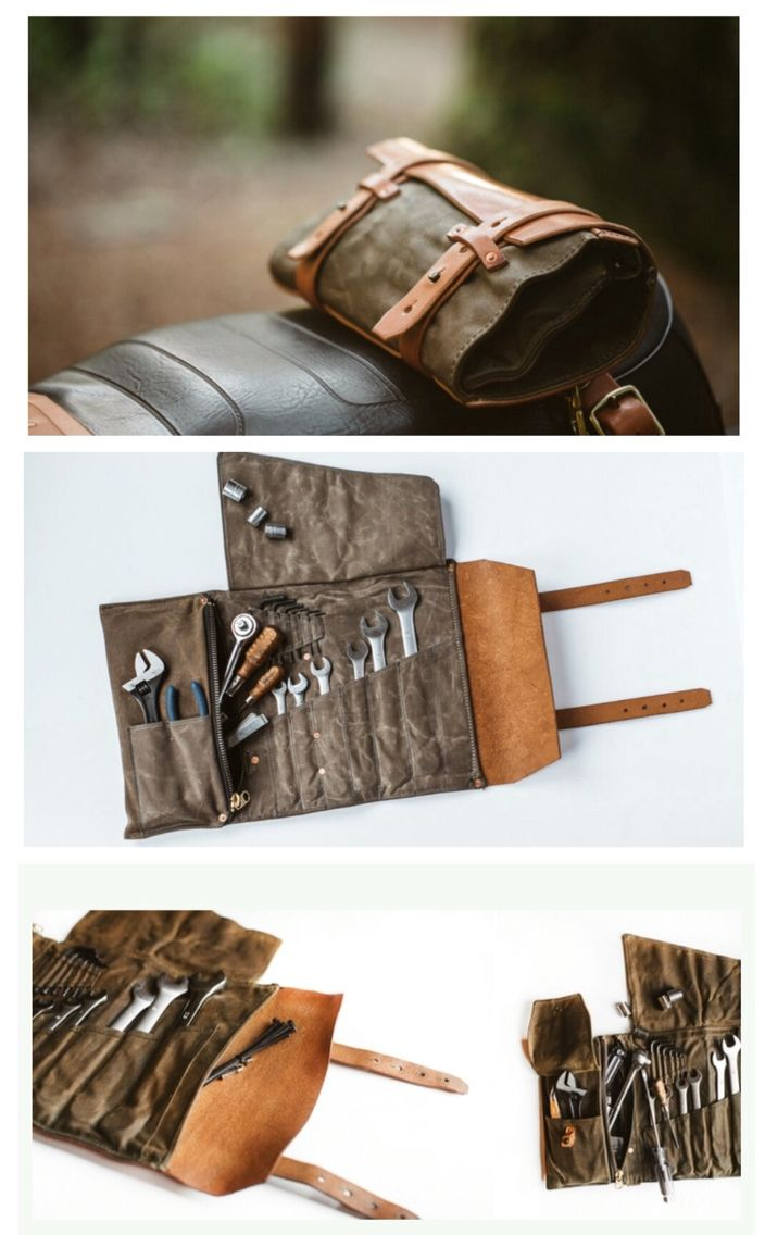 Waxed twill and leather tool roll from Pack Animal. http://packanimal.co