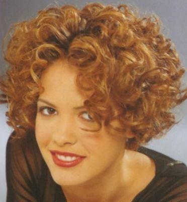 Short perm with big curls