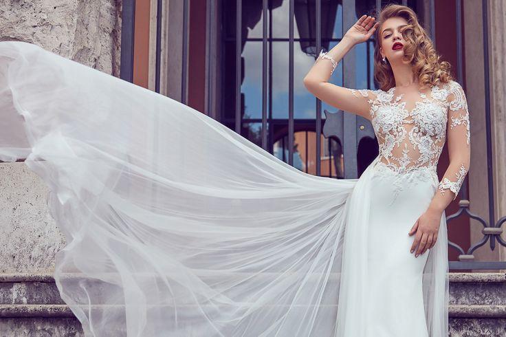 AdoraSposa 2017  Roma Collection #bridal #wedding #weddingdress #weddinggown #bridalgown #dreamgown #dreamdress #engaged #blush #romantic #inspiration #bridalinspiration #train #princess #weddinginspiration #adorasposa #weddingdresse
