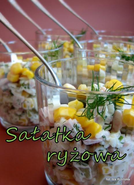 Smaczna Pyza: Sałatka ryżowa z szynką - http://smacznapyza.blogspot.com/2013/03/saatka-ryzowa-z-szynka.html