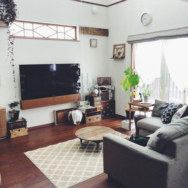 部屋全体 Diy 雑貨好き 植物のある暮らし 観葉植物 などのインテリア