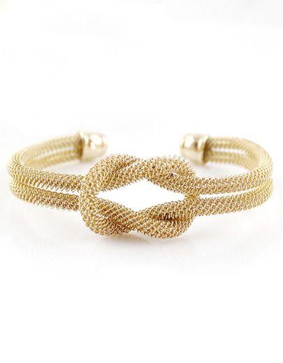 Gold Double Layers Twine Bracelet