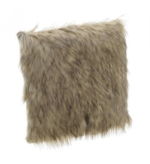 FAUX FUR CUSHION COVER IN BROWN COLOR 41X10X41