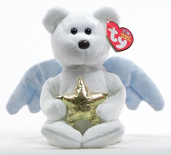 Star (gold) - bear - Ty Beanie Babies