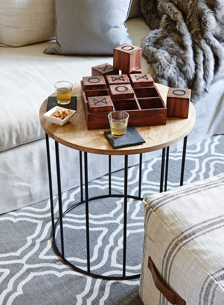 From walmart ca · a soft ottoman pulled up to a coffee table creates a cosy spot for playing cards