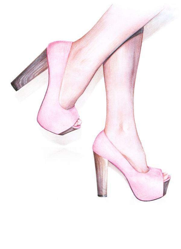 zapatos ilustracion - Anca G. Lungu