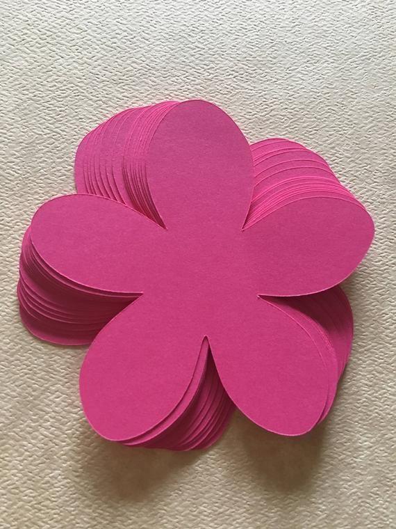 25 cut out paper cardstock flowers  die cut flowers