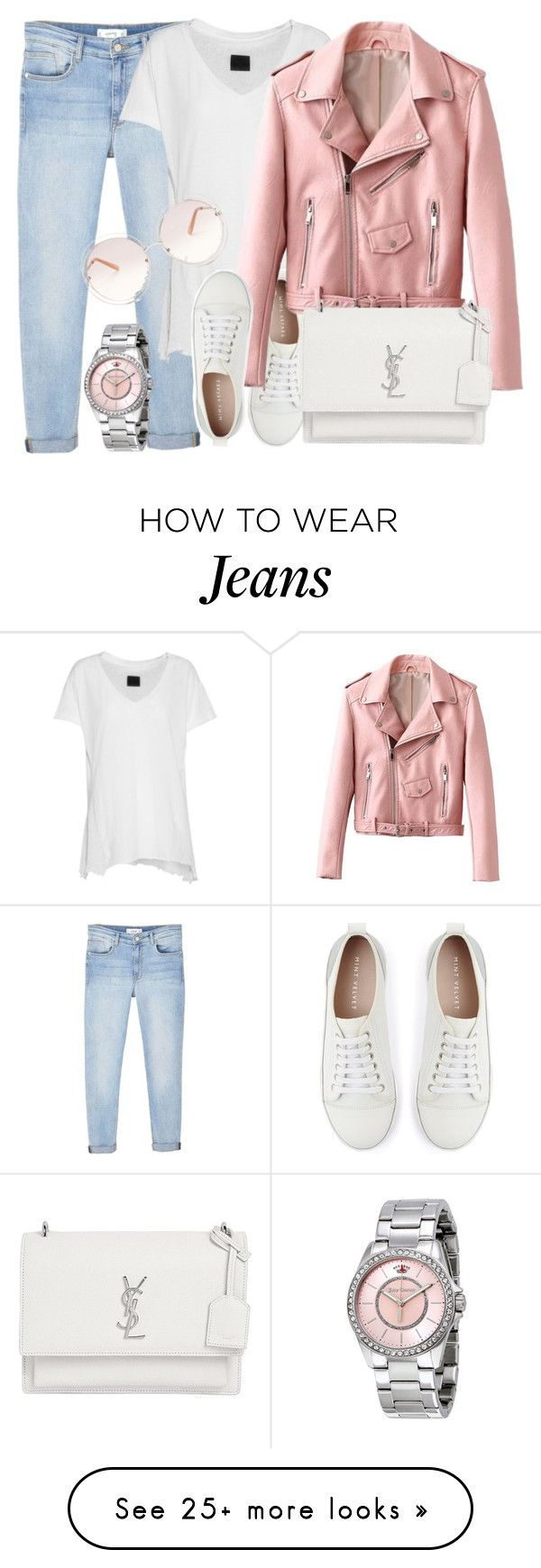 """Pinks & Whites"" by monmondefou on Polyvore featuring MANGO, RtA, Mint Velvet, Yves Saint Laurent, Juicy Couture, Chloé, white and Pink"
