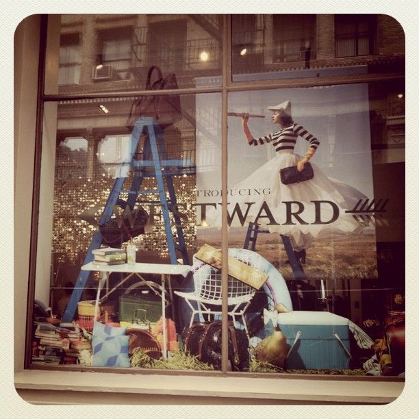 westward, kate spade window on broome: Eclectic Display, Stores Windows, Retail Display, Windows Display, Front Windows Indoor Display, Dashboards, Display Wower, Stores Display, Spade Windows