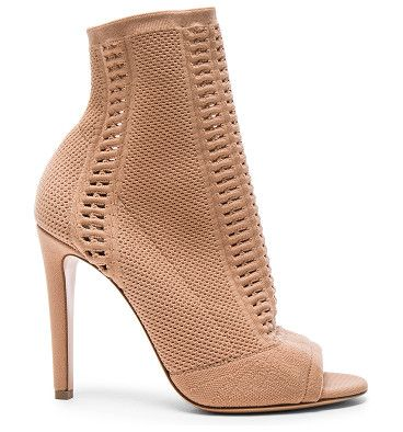 Knit Booties by Gianvito Rossi. Stretch knit upper with leather sole.  Made in Italy.  Shaft measures approx 125mm/ 5 inches in height.  Approx 100mm...