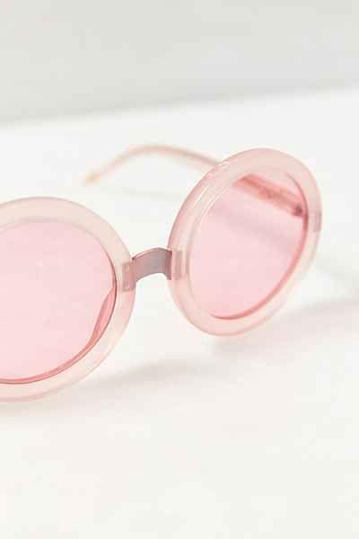 pink round sunglasses - love