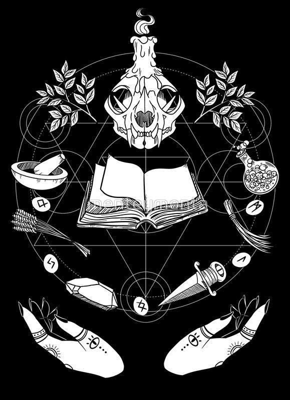Pósters «Wicca» de menteymenta   Redbubble   Arte wicca, Wicca, Arte de la bruja