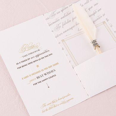 'Love Letters' Feather Pen Favor