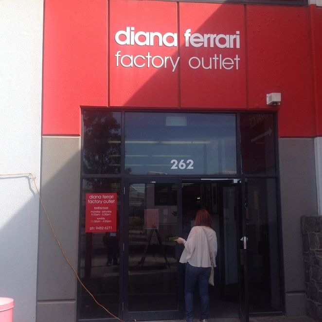 Get the latest styles in shoes, bags and evening dresses from the Diana Ferrari Factory Outlet @ 262 Darebin Rd Fairfield <3